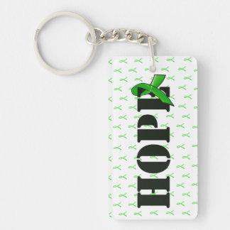 Lyme Disease Awareness Hope Key Chain