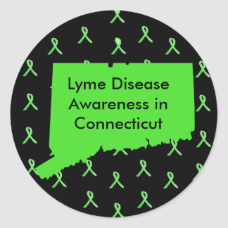 Lyme Disease Awareness in Connecticut Stickers