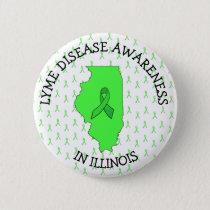 Lyme Disease Awareness in Illinois Button