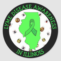 Lyme Disease Awareness in Illinois Stickers