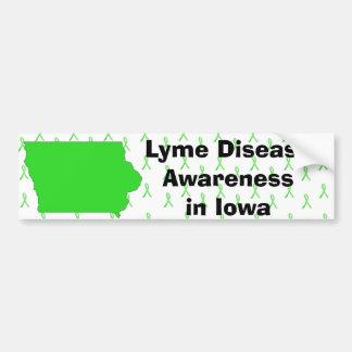 Lyme Disease Awareness in Iowa Bumper Sticker
