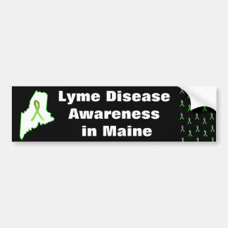 Lyme Disease Awareness in Maine Bumper Sticker