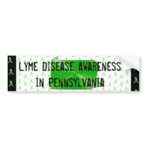 Lyme Disease Awareness in Pennsylvania Bumper Bumper Sticker