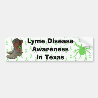 Lyme Disease Awareness in Texas Bumper Sticker