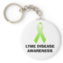 LYME DISEASE AWARENESS KEYCHAIN
