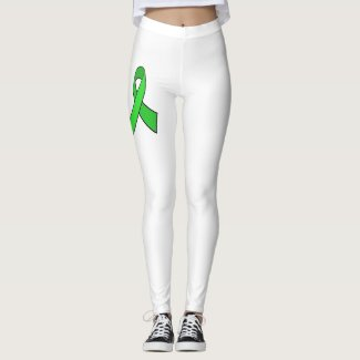 Lyme Disease Awareness Leggings with Butterfly
