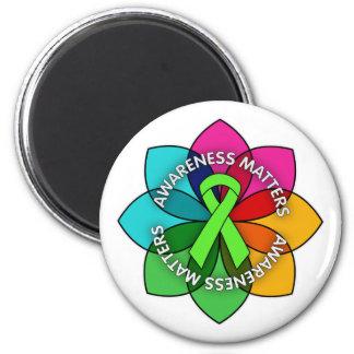 Lyme Disease Awareness Matters Petals 2 Inch Round Magnet