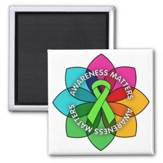 Lyme Disease Awareness Matters Petals 2 Inch Square Magnet