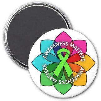 Lyme Disease Awareness Matters Petals 3 Inch Round Magnet