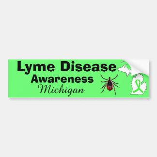 Lyme Disease Awareness Michigan Bumper Sticker
