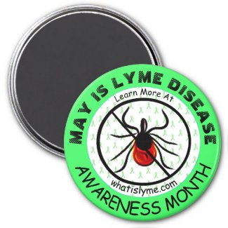Lyme Disease Awareness Month Anti Tick Magnet