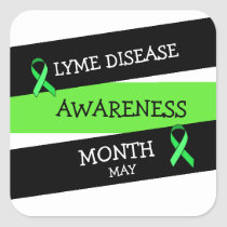 Lyme Disease Awareness Month Ribbon Stickers