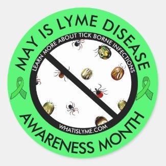 Lyme Disease Awareness Month Ticks Stickers