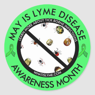 Lyme Disease Awareness Month Ticks Stickers