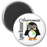 Lyme Disease Awareness Penguin Fridge Magnets