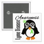 Lyme Disease Awareness Penguin Pinback Button