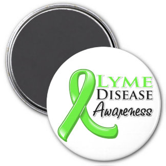 Lyme Disease Awareness Ribbon 3 Inch Round Magnet