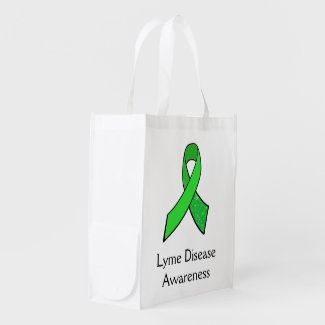 Lyme Disease Awareness Ribbon and Butterfly Bag