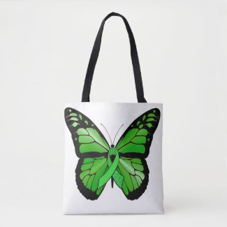 Lyme Disease Awareness Ribbon and Butterfly