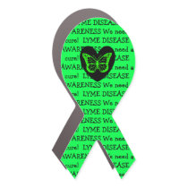 Lyme Disease Awareness Ribbon Butterfly Car Magnet