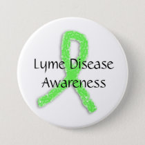 Lyme Disease Awareness Ribbon  Button
