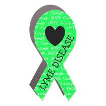 Lyme Disease Awareness Ribbon Car Magnet