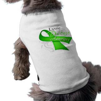Lyme Disease Awareness Ribbon Dog Tshirt