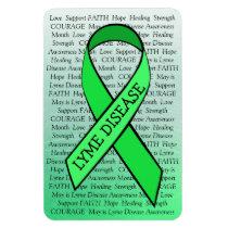 Lyme Disease Awareness Ribbon Green Magnet