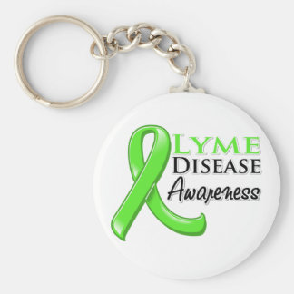 Lyme Disease Awareness Ribbon Keychains