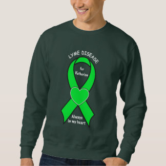 Lyme Disease Awareness Ribbon Name Customizable Sweatshirt
