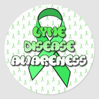 Lyme Disease Awareness Ribbon Stickers