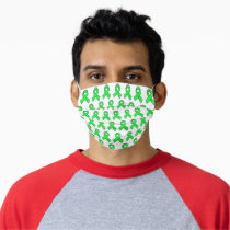 Lyme Disease Awareness Ribbons Adult Cloth Face Mask