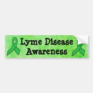 Lyme Disease Awareness Ribbons Bumper Sticker