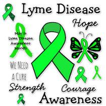 Lyme Disease Awareness Ribbons Butterflies Sticker