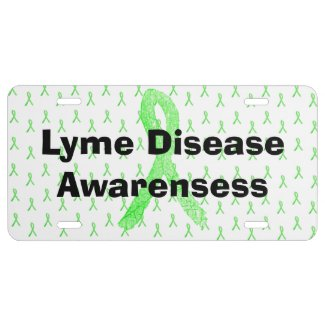 Lyme Disease Awareness Ribbons Front License Plate