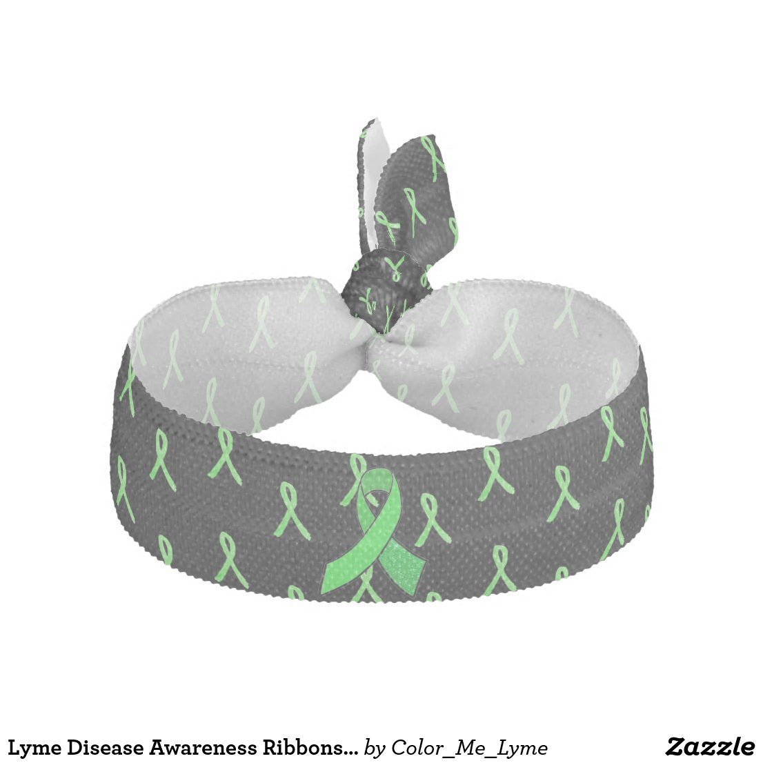 Lyme Disease Awareness Ribbons Hair Band