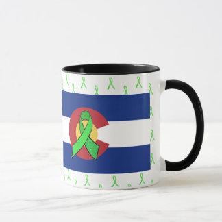 Lyme Disease Awareness ribbons in Colorado Mug
