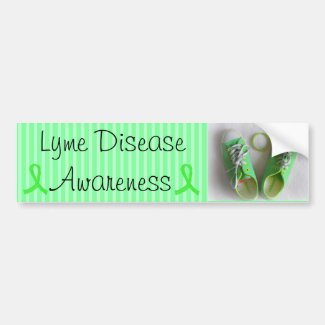 Lyme Disease Awareness Shoes and Bracelet Bumper
