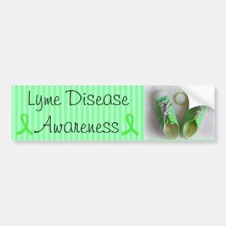 Lyme Disease Awareness Shoes and Bracelet Bumper