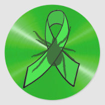 Lyme Disease Awareness Stickers with a tick