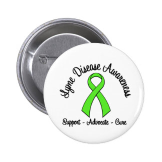 Lyme Disease Awareness Support Advocate Cure Button