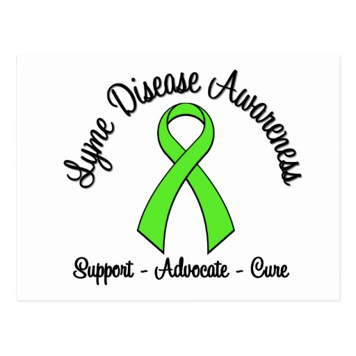 Lyme Disease Awareness Support Advocate Cure Postcard