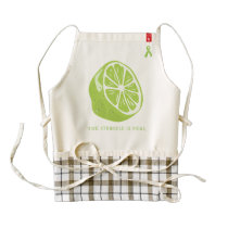 Lyme Disease Awareness - The Struggle Is Real Zazzle HEART Apron