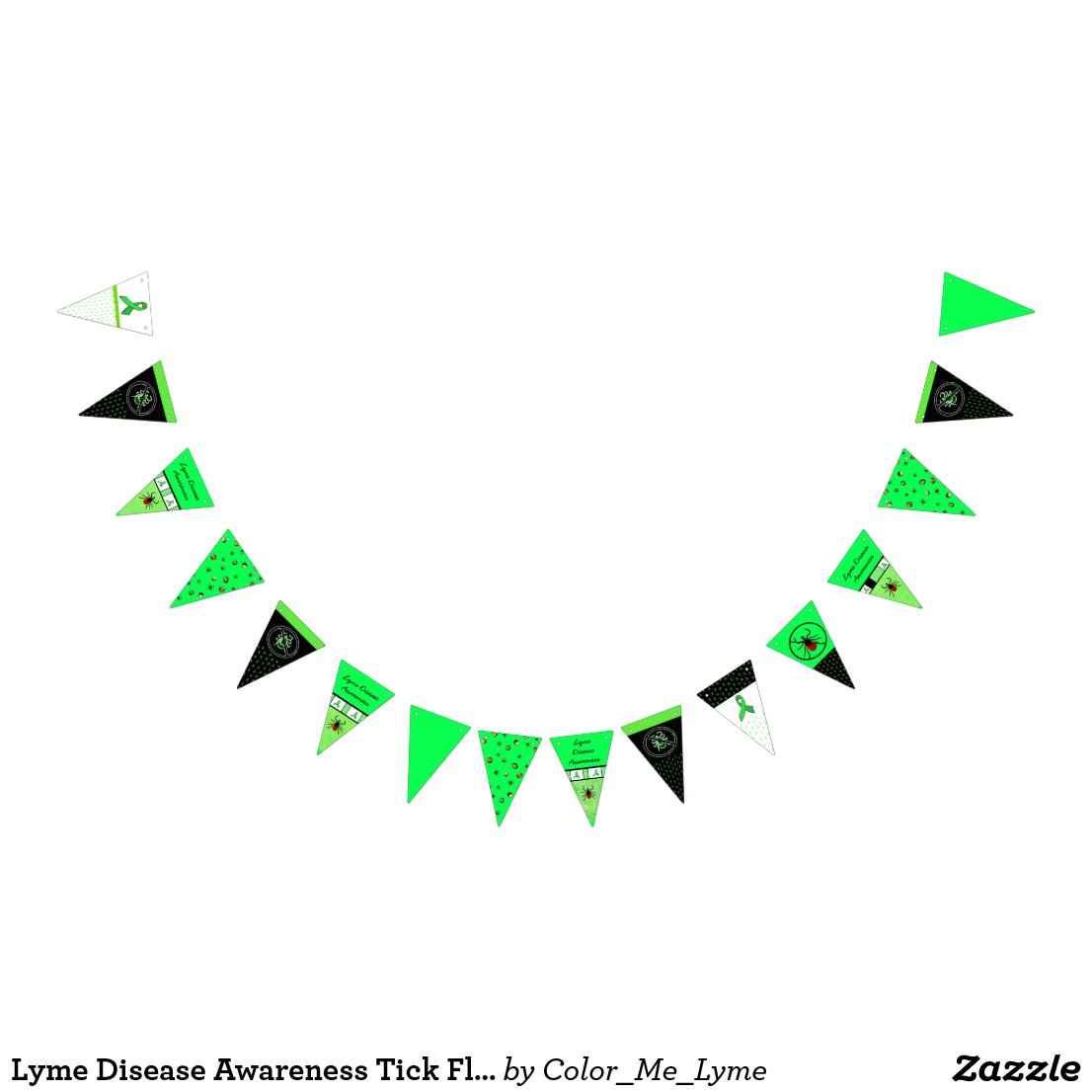 Lyme Disease Awareness Tick Flag Banner