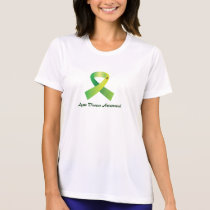 Lyme Disease Awareness Tick on Ribbon T-Shirt
