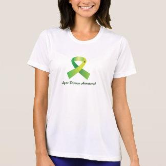 Lyme Disease Awareness Tick on Ribbon T-Shirt