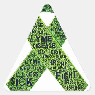 Lyme disease awareness triangle sticker