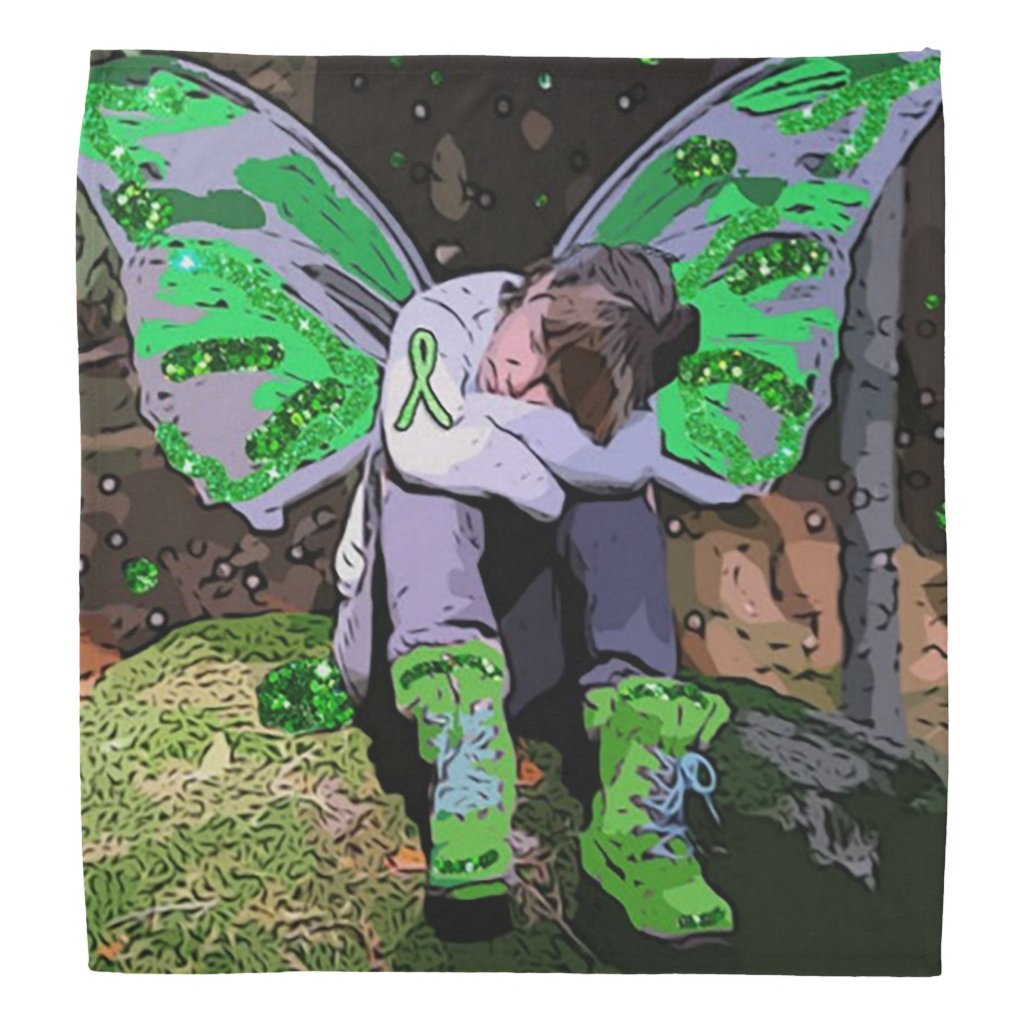 Lyme Disease Awareness Warrior Angel Bandanna