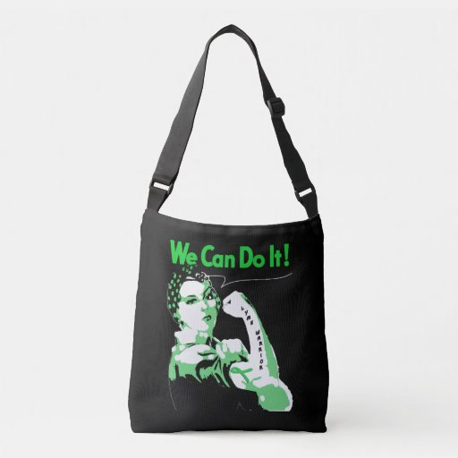 "Lyme Disease awareness ""We Can Do It"" Body Tote"