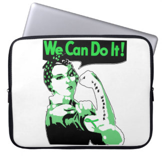 "Lyme Disease awareness ""We Can Do It"" Lyme Warrior Laptop Sleeve"